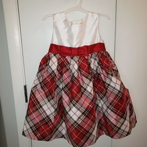 Gymboree 4T red plaid tulle puff holiday dress